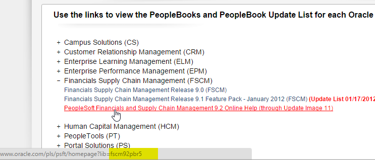 PeopleBooks Product Code Reference Finder