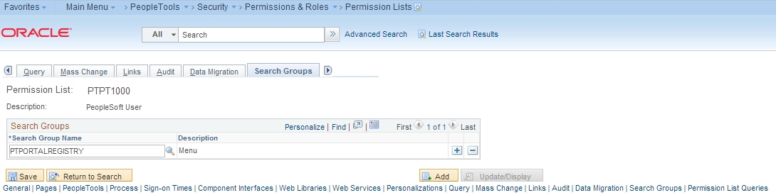 Search Permissions
