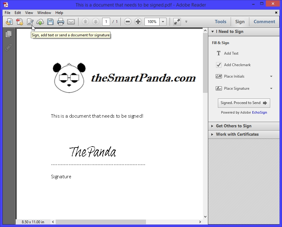 Sign My PDF