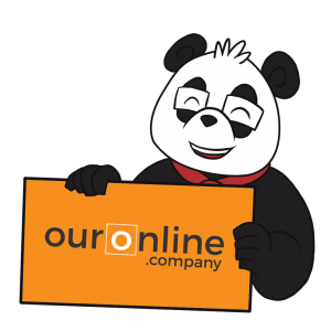 Smart Panda - OurOnline.Company - Panda with Sign